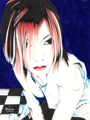 Art-of-Divya-Suvarna_Music-inspired_J-rock_Visual-kei_Japan_the-Gazette_Uruha-fanart