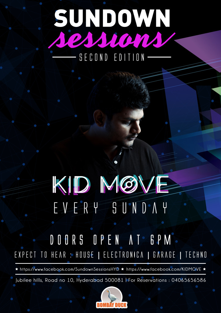 ArtofDivyaSuvarna_Graphic-design_Music_Kid-Move-Sundown-session-design_Gig_Event_flyer