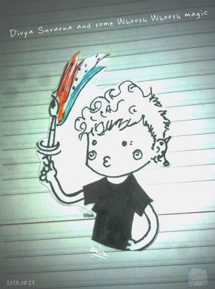 Art-of-Divya-Suvarna_Self-portrait_Chibi_Whoosh-ing-Magic