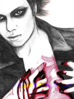 Art-of-Divya-Suvarna_j-rock-portrait-art_Die-fanart_Dir-en-Grey
