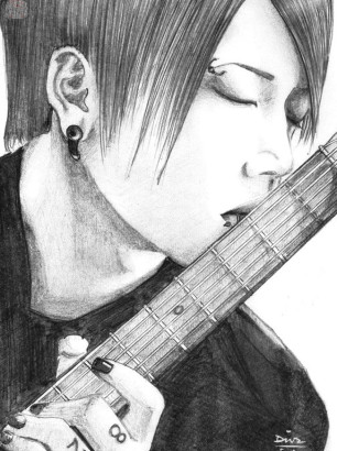 Art-of-Divya-Suvarna_j-rock-portrait-art_Reverence_Miyavi-fanart