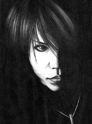 Art-of-Divya-Suvarna_j-rock-portrait-art_Shinya-fanart_Dir-en-Grey