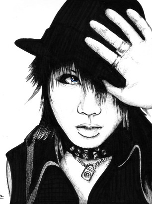 Art-of-Divya-Suvarna_j-rock-portrait-art_ruki-fanart_theGazettE